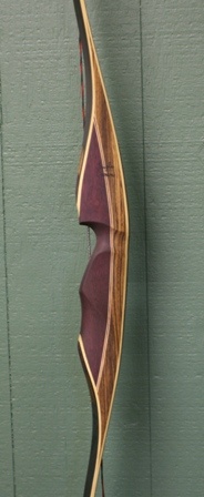 zebra/purple heart riser with dark stained bamboo limbs