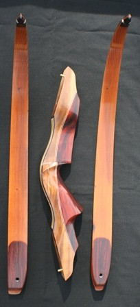 Cocobolo/myrtle riser with yew limbs