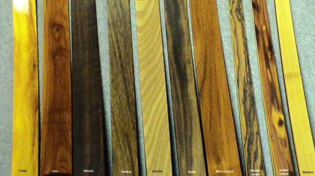 Royal Crown exotic and domestic limb core and veneer choices